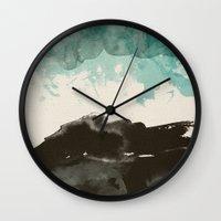 storm Wall Clocks featuring storm by Golden Boy