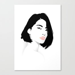 Pink Lips Canvas Print
