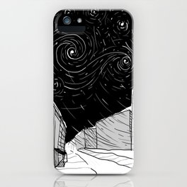 Night Sky in Middling City iPhone Case