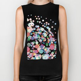 Abstract Colorful Dots Biker Tank