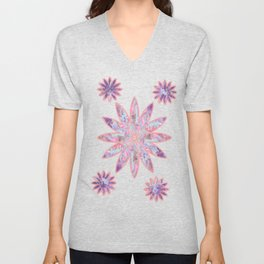 Fluid Abstract 19 Unisex V-Neck