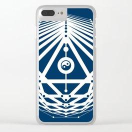 Radiant Abundance (blue-white) Clear iPhone Case