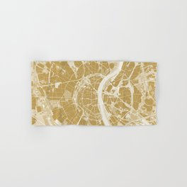 Cologne map gold Hand & Bath Towel