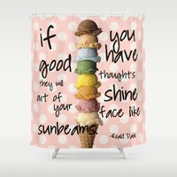 roald dahl Shower Curtains featuring I scream, you scream! by courtneeeee