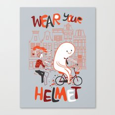 Wear Your Helmet Canvas Print