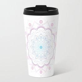 Mandala in pink and blue Travel Mug