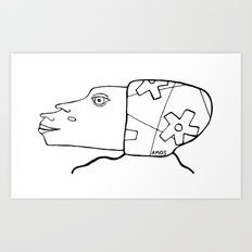 #headsbyamos #002 Art Print