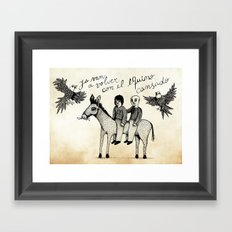 And you will return with your horse tired Framed Art Print