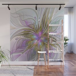 Flourish, Abstract Fractal Art Flower Wall Mural