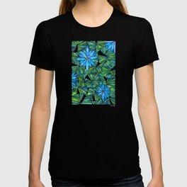 Water Lilies – Blue & Green Palette T-shirt