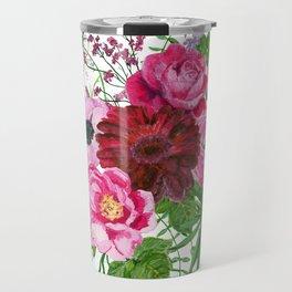 Burgundy bouquet Travel Mug