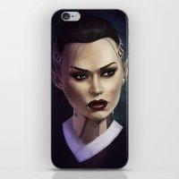 mass effect iPhone & iPod Skins featuring Mass Effect: Jack by Ruthie Hammerschlag
