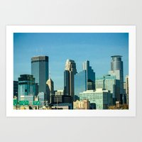 minnesota Art Prints featuring Minnesota by Lindsey Hart Photography