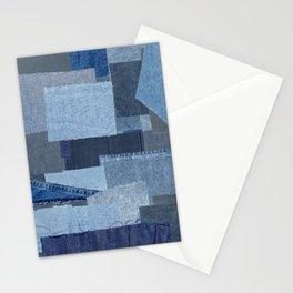 Boroboro Blue Jean Japanese Boro Inspired Patchwork Shibori Stationery Cards