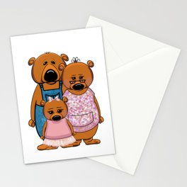 Brown Bear Family Stationery Cards
