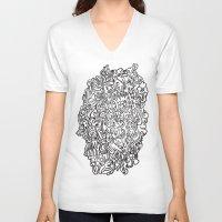 doodle V-neck T-shirts featuring DOODLE by ISMISM