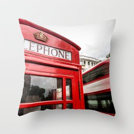 Iconic London Throw Pillow