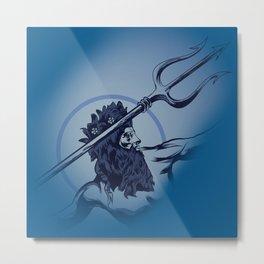 Poseidon God Of the Sea Metal Print