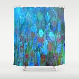 Field of Flowers Moon Glow Shower Curtain