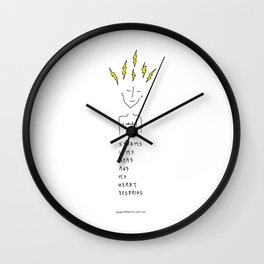 Storms In My Head Wall Clock