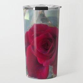 Red Bordo Rose Bloom Travel Mug