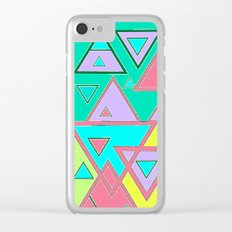 Colorful triangles Clear iPhone Case
