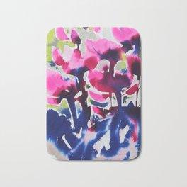Botanika - Abstract Floral Watercolor Bath Mat