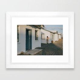 Don't Blend In // Roy's Motel, Route 66 California Framed Art Print