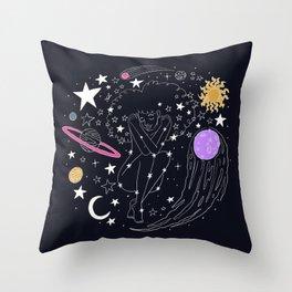 Universe girl Throw Pillow
