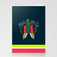 mcfly Stationery Cards featuring Marty McFly by Chelsea Herrick