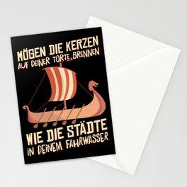 Viking longboat t-shirt birthday shirt men Stationery Cards