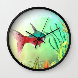 Underwater World **just keep swimming Wall Clock