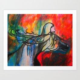 Chasing The Rain  #society6 #decor #buyart Art Print