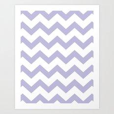 Chevron Lilac Art Print