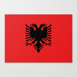 Flag of Albania - Authentic version Canvas Print
