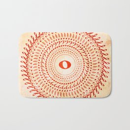 Watercolor music mandala no 2 Bath Mat