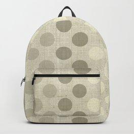 """""""Nude Burlap Texture and Polka Dots"""" Backpack"""