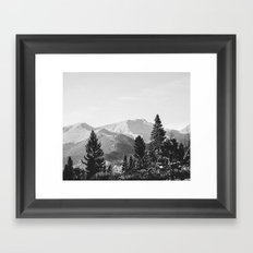 camping in the rockies .  Framed Art Print