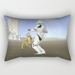 War Stars: Where is no need in Cavalry? Rectangular Pillow