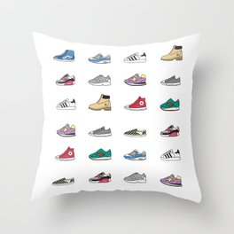 Kicks Throw Pillow