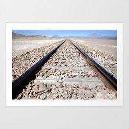 On the road again - Bolivia Art Print