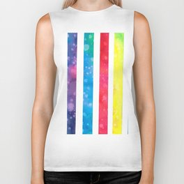 Colorful stripes Biker Tank