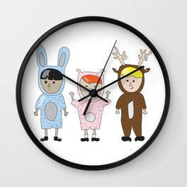 Kids just wanna have fun Wall Clock