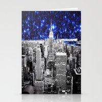 new york city Stationery Cards featuring new york city. Blue Stars by 2sweet4words Designs