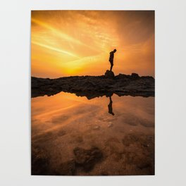 Sunset reflection Poster