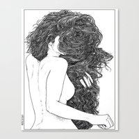 apollonia Canvas Prints featuring asc 590 - Le peigne (Combing her hair) by From Apollonia with Love