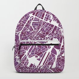 Brussels City Map II Backpack