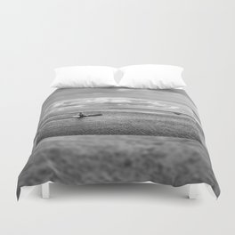 Natural bucolic view in Biebrza wetland Duvet Cover