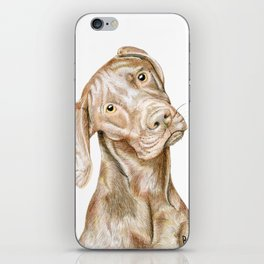 Traditional Vizsla Portrait iPhone Skin