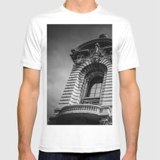 Monte Carlo, Monaco, building MEDIUM Mens Fitted Tee White